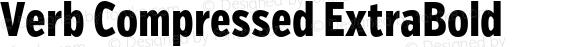 Verb Compressed ExtraBold