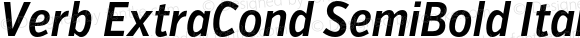 Verb ExtraCond SemiBold Italic