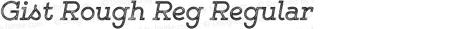 Gist Rough Reg Regular Version 1.000