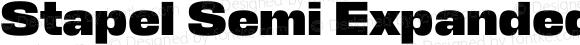 Stapel Semi Expanded Extra Bold