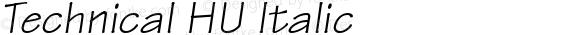 Technical HU Italic 1.000