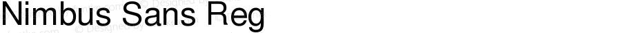 Nimbus Sans Reg Version 1.10