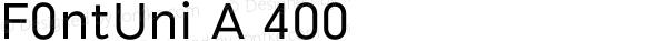 F0ntUni A 400