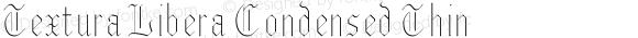 Textura Libera Condensed Thin