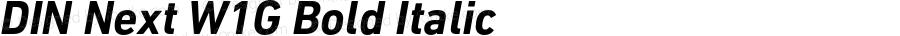DIN Next W1G Bold Italic Version 1.00;com.myfonts.linotype.din-next.w1g-bold-italic.wfkit2.3Kmh