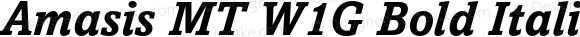 Amasis MT W1G Bold Italic Version 1.000