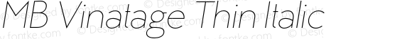 MB Vinatage Thin Italic