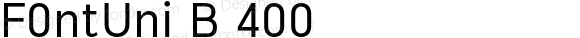 F0ntUni B 400