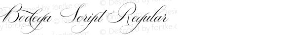 Bodega Script Regular