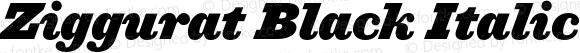 Ziggurat Black Italic
