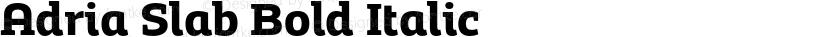 Adria Slab Bold Italic Preview Image