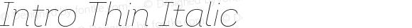 Intro Thin Italic