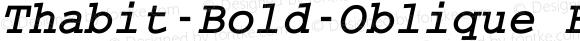 Thabit-Bold-Oblique Bold Oblique