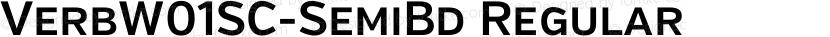 VerbW01SC-SemiBd Regular Preview Image
