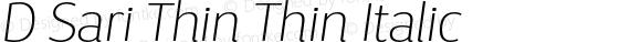 D Sari Thin Thin Italic