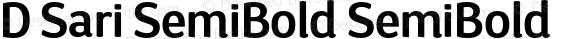 D Sari SemiBold SemiBold