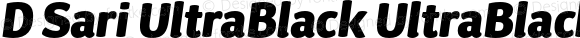 D Sari UltraBlack UltraBlack Italic