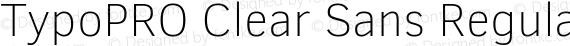 TypoPRO Clear Sans Regular preview image