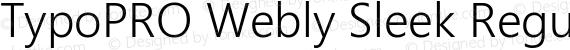 TypoPRO Webly Sleek Regular preview image