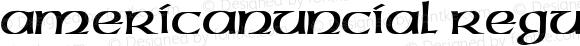 AmericanUncial Regular Altsys Fontographer 3.5  4/14/93