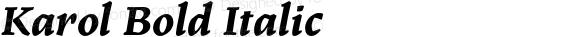 Karol Bold Italic