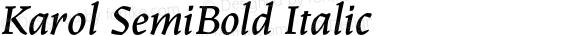 Karol SemiBold Italic