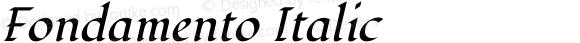 Fondamento Italic