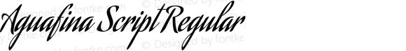 AguafinaScript-Regular