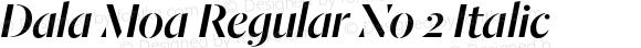 Dala Moa Regular No 2 Italic