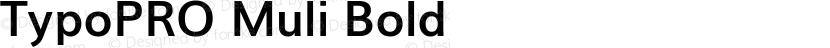TypoPRO Muli Bold Preview Image