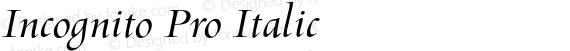 Incognito Pro Italic preview image