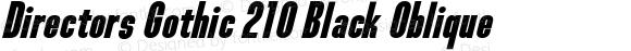 Directors Gothic 210 Black Oblique