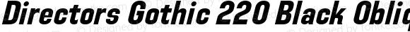 Directors Gothic 220 Black Oblique