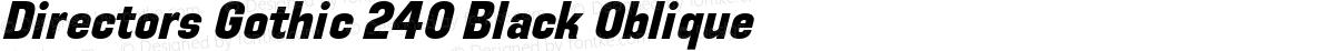Directors Gothic 240 Black Oblique