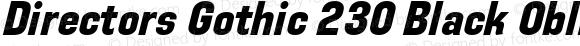 Directors Gothic 230 Black Oblique