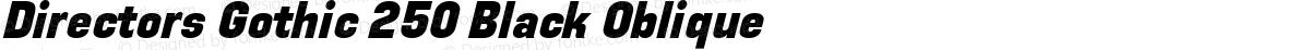 Directors Gothic 250 Black Oblique