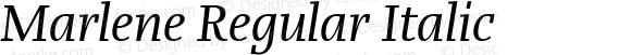Marlene Regular Italic