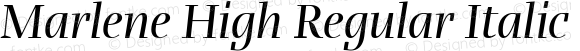 Marlene High Regular Italic