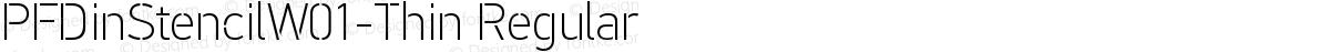 PFDinStencilW01-Thin Regular