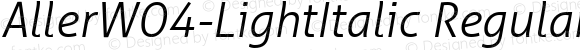 AllerW04-LightItalic Regular Version 1.10