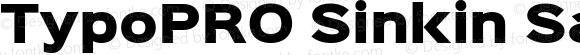 TypoPRO Sinkin Sans 900 X Black