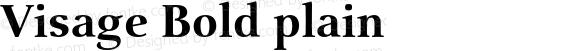 Visage Bold plain