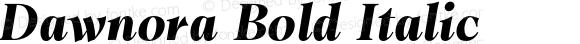 Dawnora Bold Italic