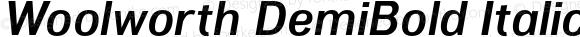 Woolworth DemiBold Italic