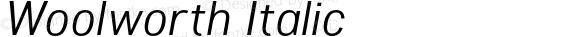 Woolworth Italic