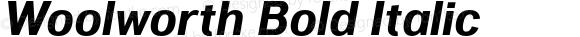 Woolworth Bold Italic