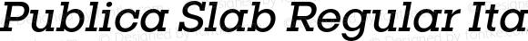 Publica Slab Regular Italic