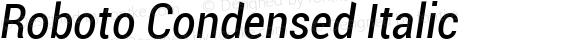 Roboto Condensed Italic