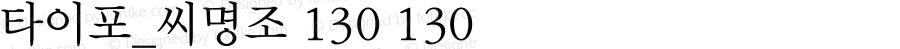 타이포_씨명조 130 130 Version 1.0.0