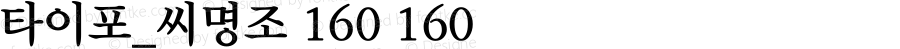 타이포_씨명조 160 160 Version 1.0.0